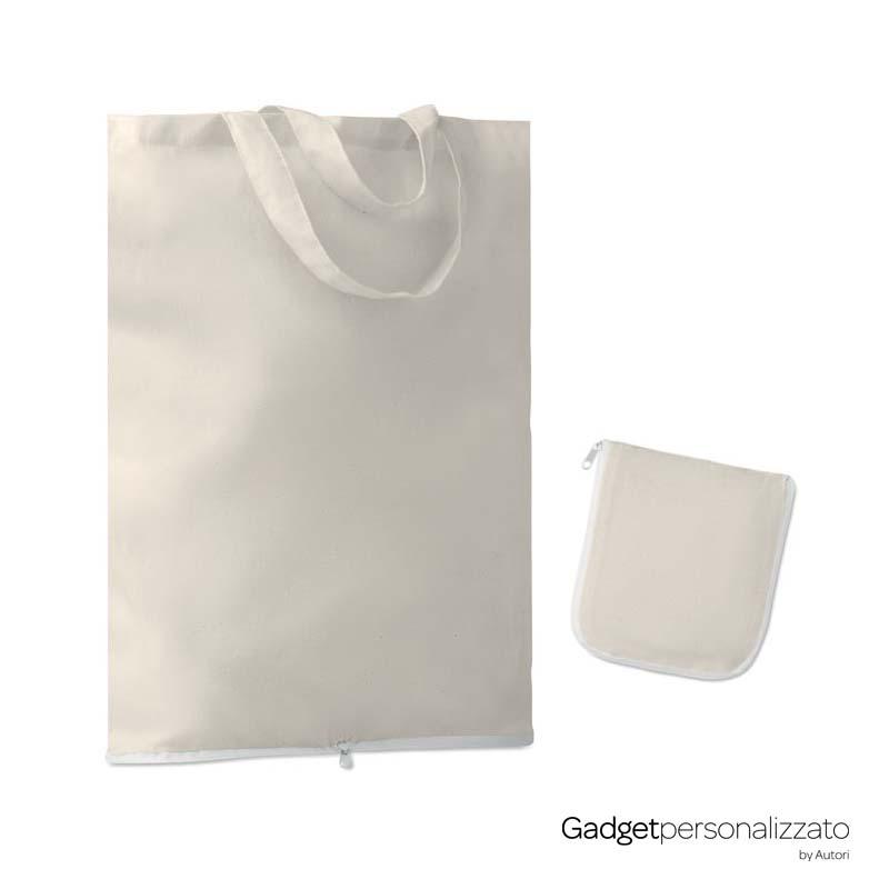 Shopper richiudibile in cotone 135 gr/m² cm 38x42x12