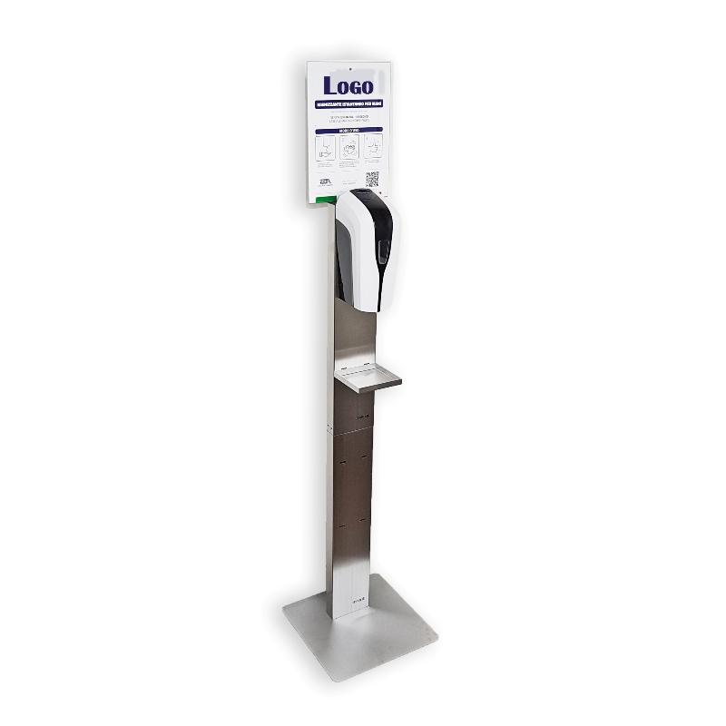 Dispenser automatico no touch e colonna in acciaio Inox