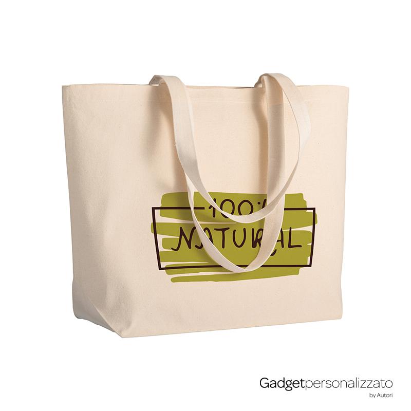 Shopper in cotone 280 g/m² con soffietto base cm 50x35x16