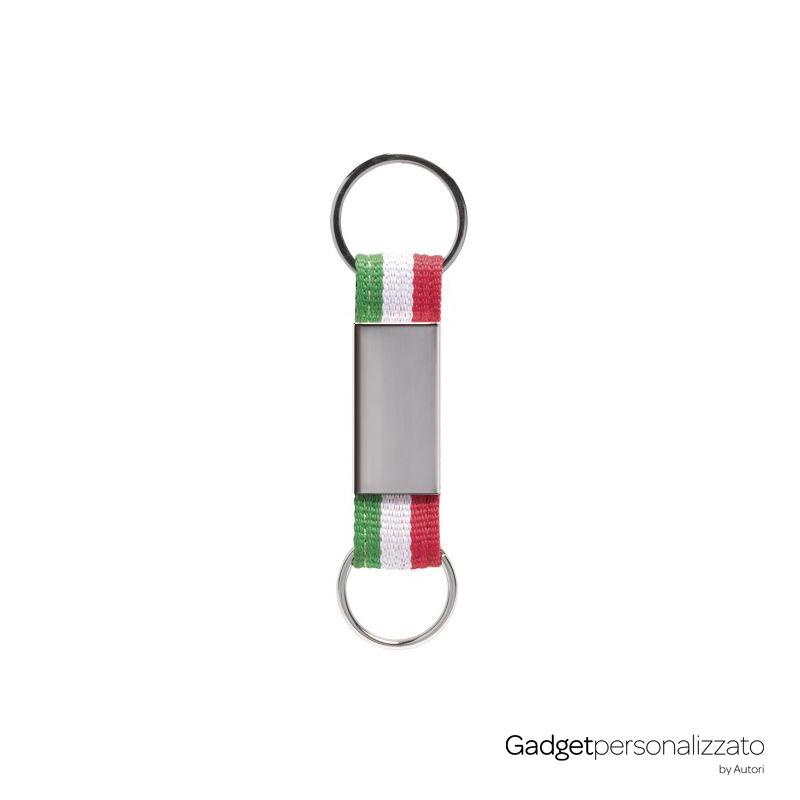 Portachiavi Italia in metallo e poliestere con doppio anello E14262.jpeg