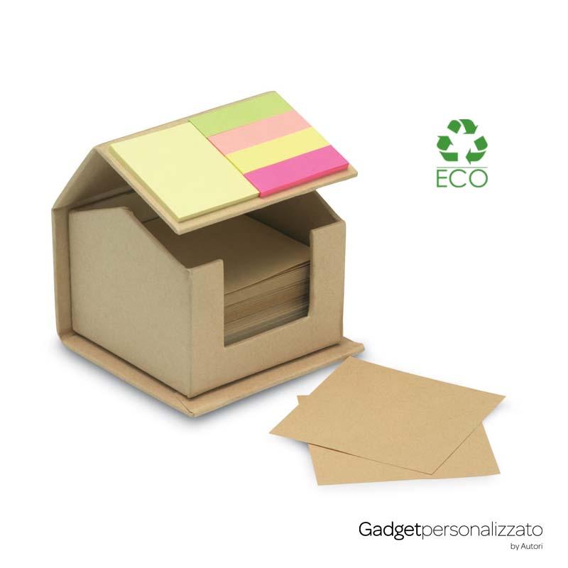 Set memo fogli e adesivi colorati Recyclopad