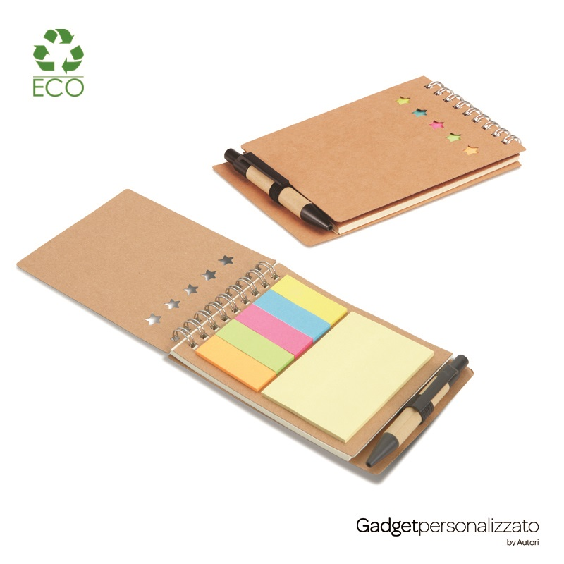 Set memo Multibook con block notes in cartone riciclato