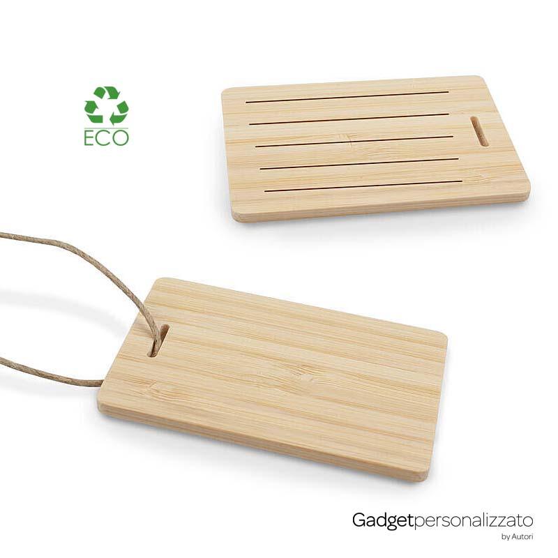 Etichetta per bagaglio in bambù