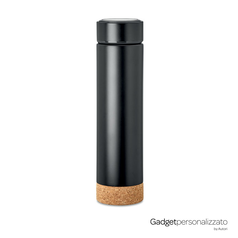 Bottiglia con infusore Pole Cork in acciaio inox doppio strato isolante 450ml