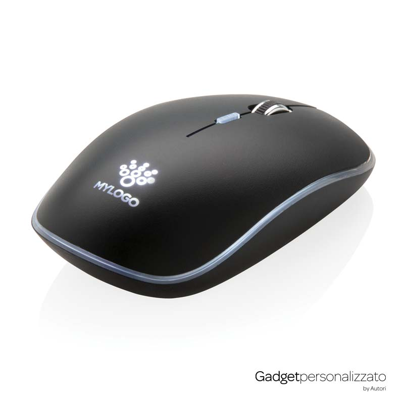 Mouse wireless con logo retroilluminato
