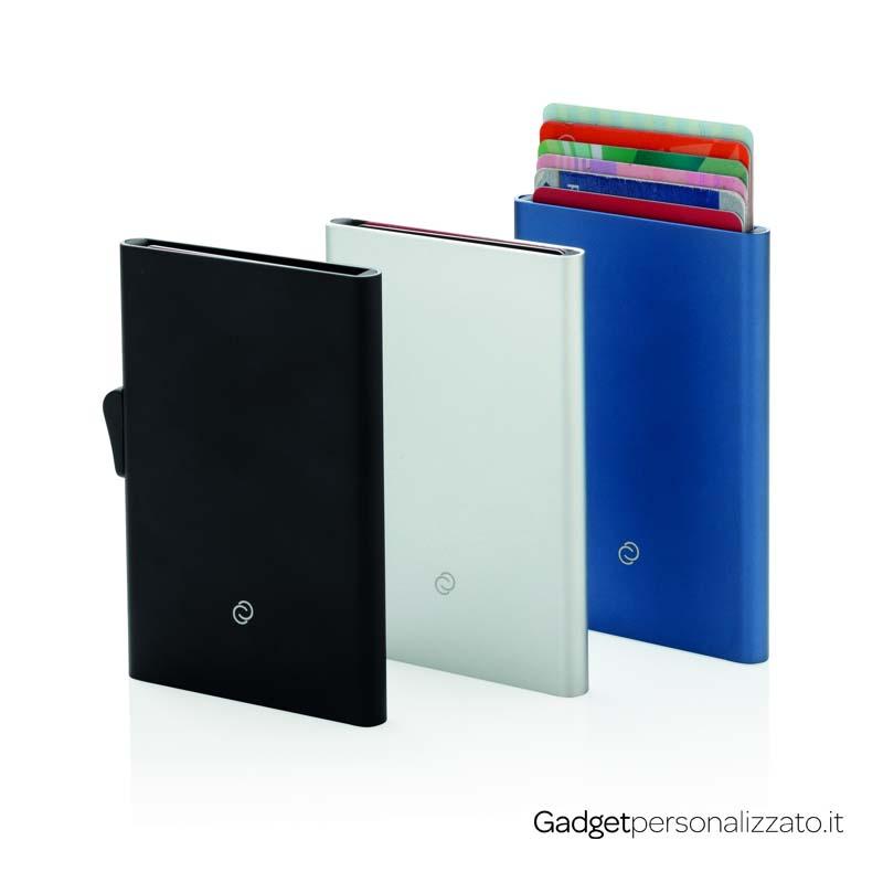 Porta carte di credito RFID in alluminio C-Secure