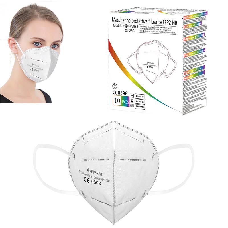 Mascherina protettiva FFP2 bianca modello FP8888 cert. CE