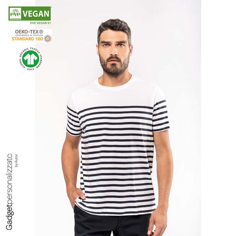 T-shirt uomo in stile marinaro Bio girocollo K3033_2021.jpg