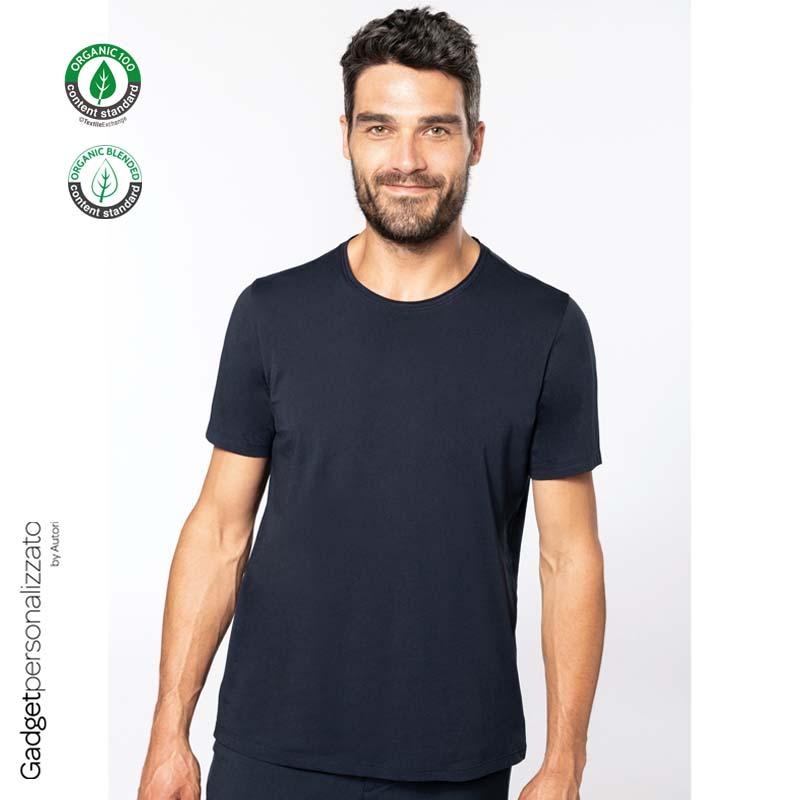 T-shirt uomo Bio con bordi a taglio vivo