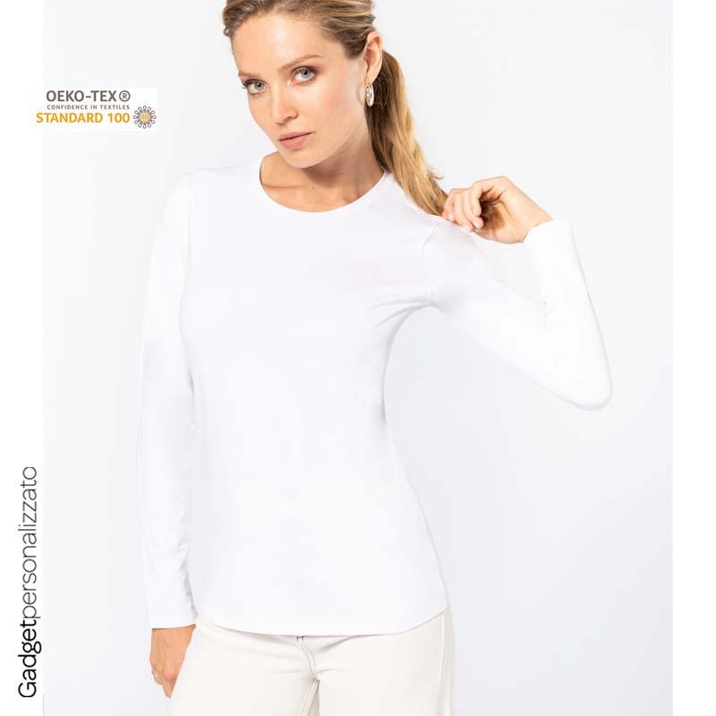 Maglietta donna a maniche lunghe