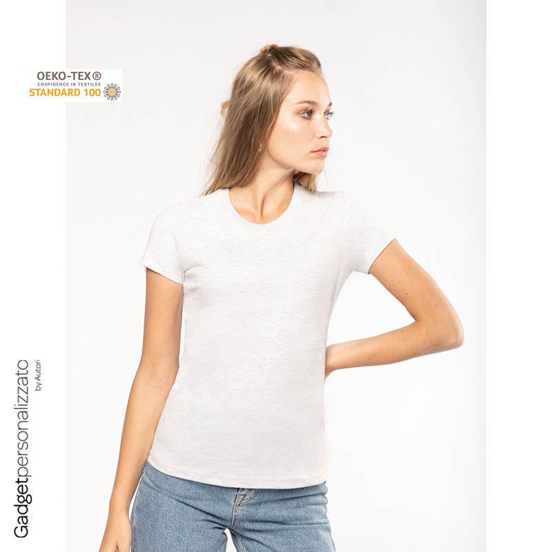 T-shirt donna 100% cotone look vintage