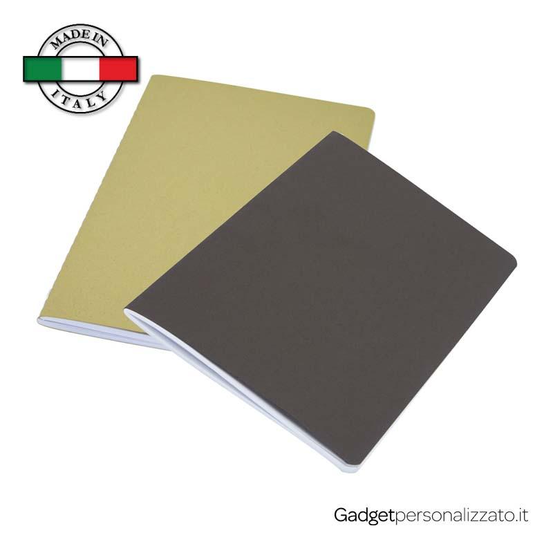 Quaderno Fabia con copertina in carta crush - formato 12,3x20,5 - Made in Italy