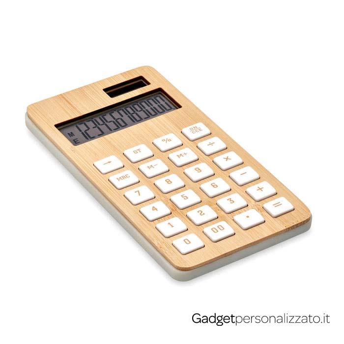Calcolatrice a 12 cifre Calcubim con rivestimento in bambù