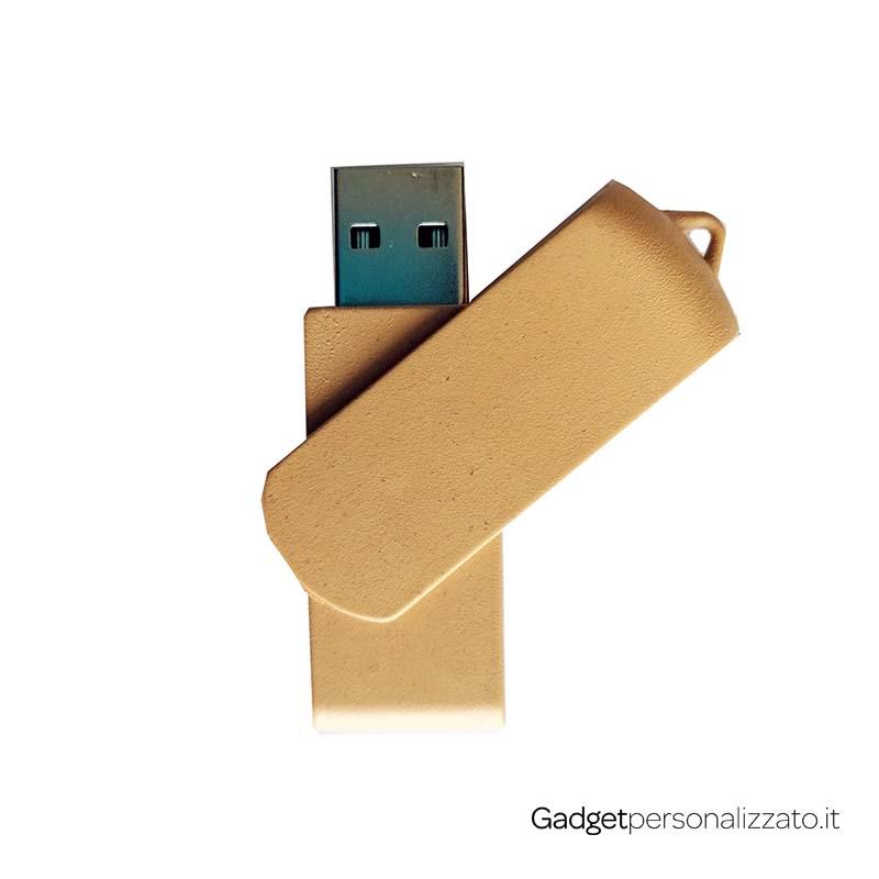 Chiave USB in pasta di mais con cap rotante
