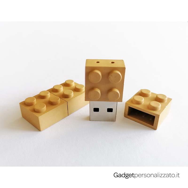 Chiave USB Lego in pasta di mais