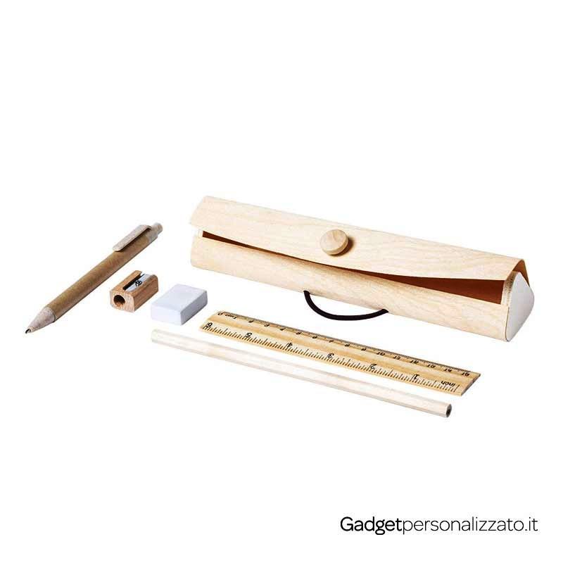 Set astuccio in legno con accessori