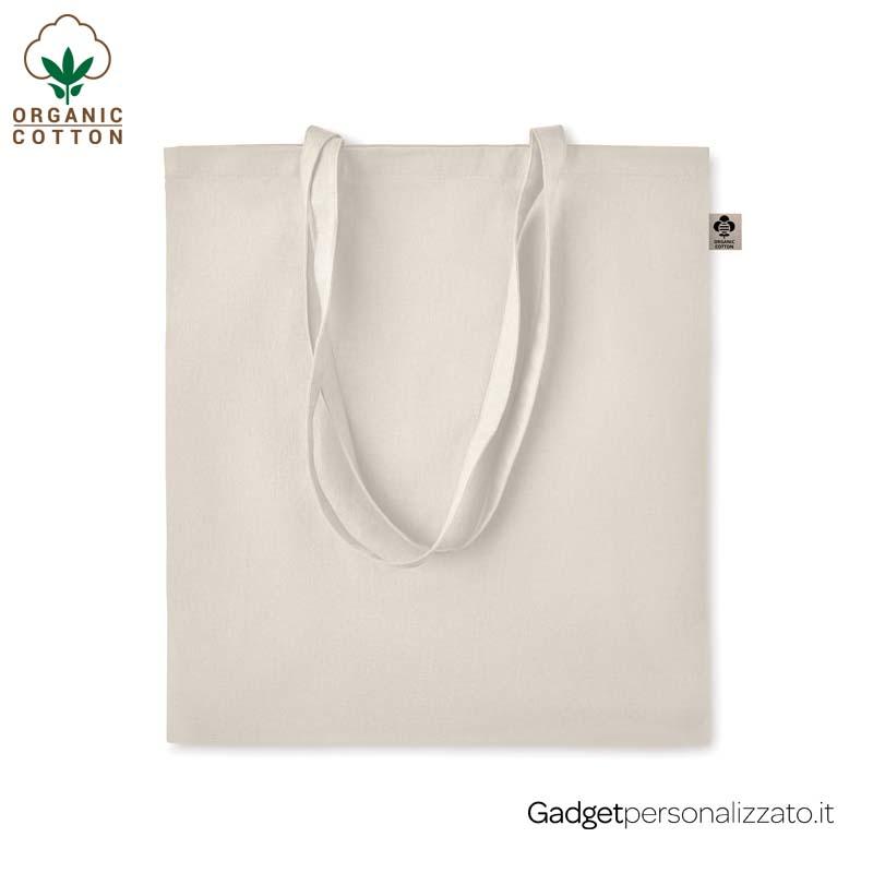Shopper Zimde in cotone organico 140 gr/m² cm 38x42
