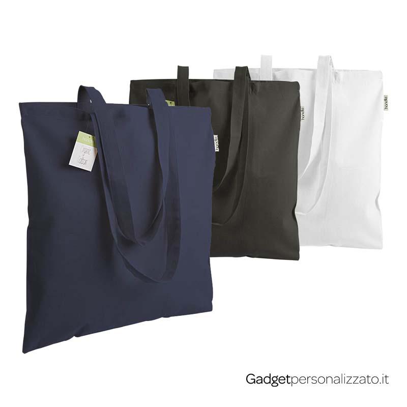 Shopper colorata in cotone organico 140 g/m² cm 38x42