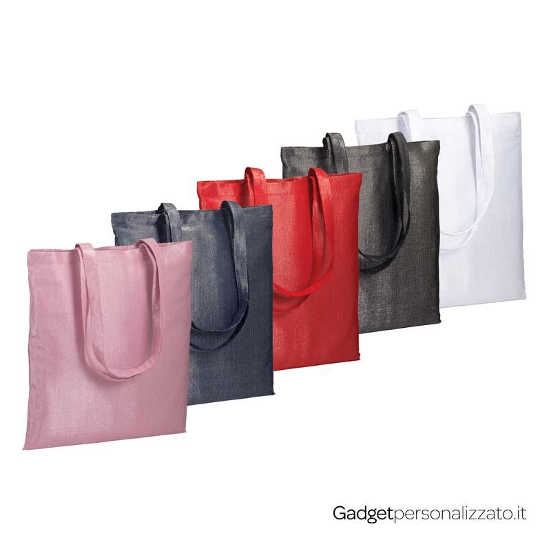 Shopper Glamour in policotone brillante 150 g/m² cm 38x42