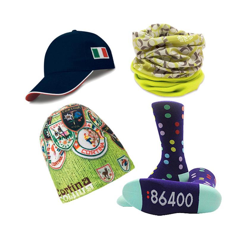Cappelli, bandane e calzini